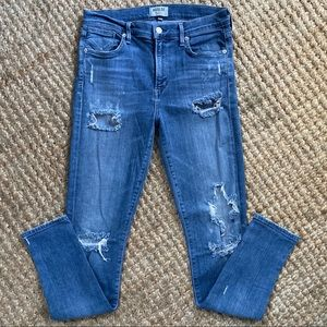👖AGOLDE distressed high rise skinny jeans
